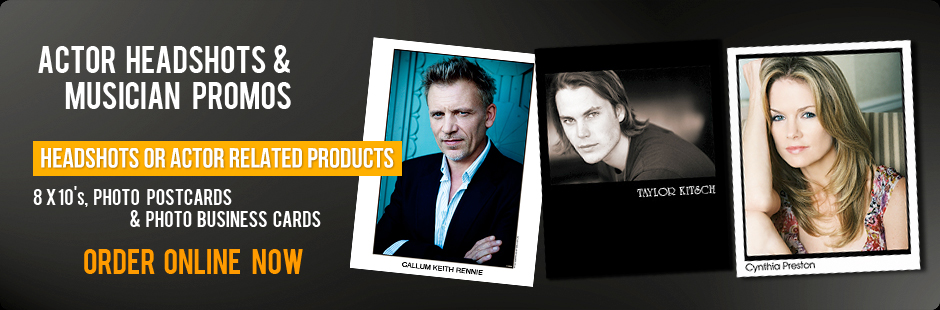 Order Headshots and Actor Related Products